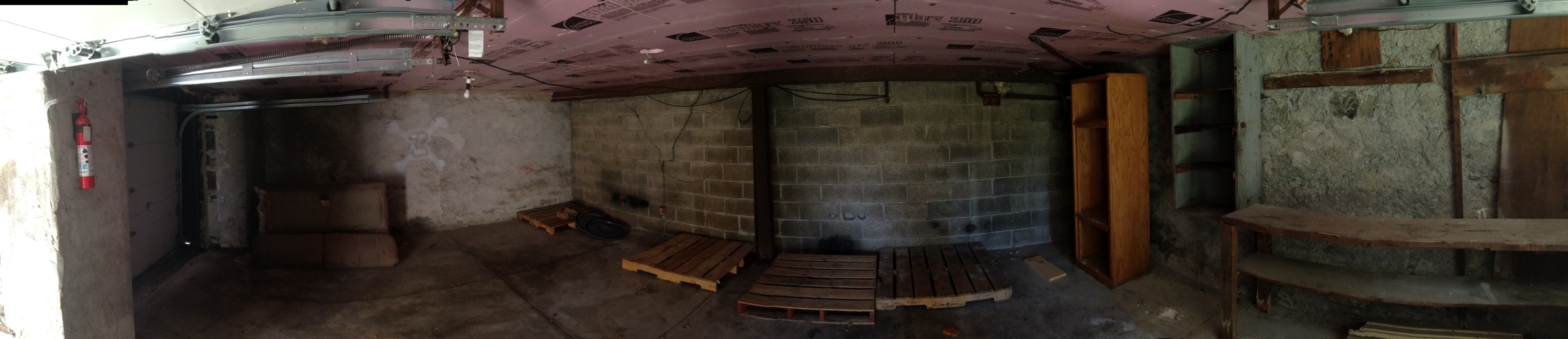 3983 – 3985 Vernon panoramic photo of unfinished basement