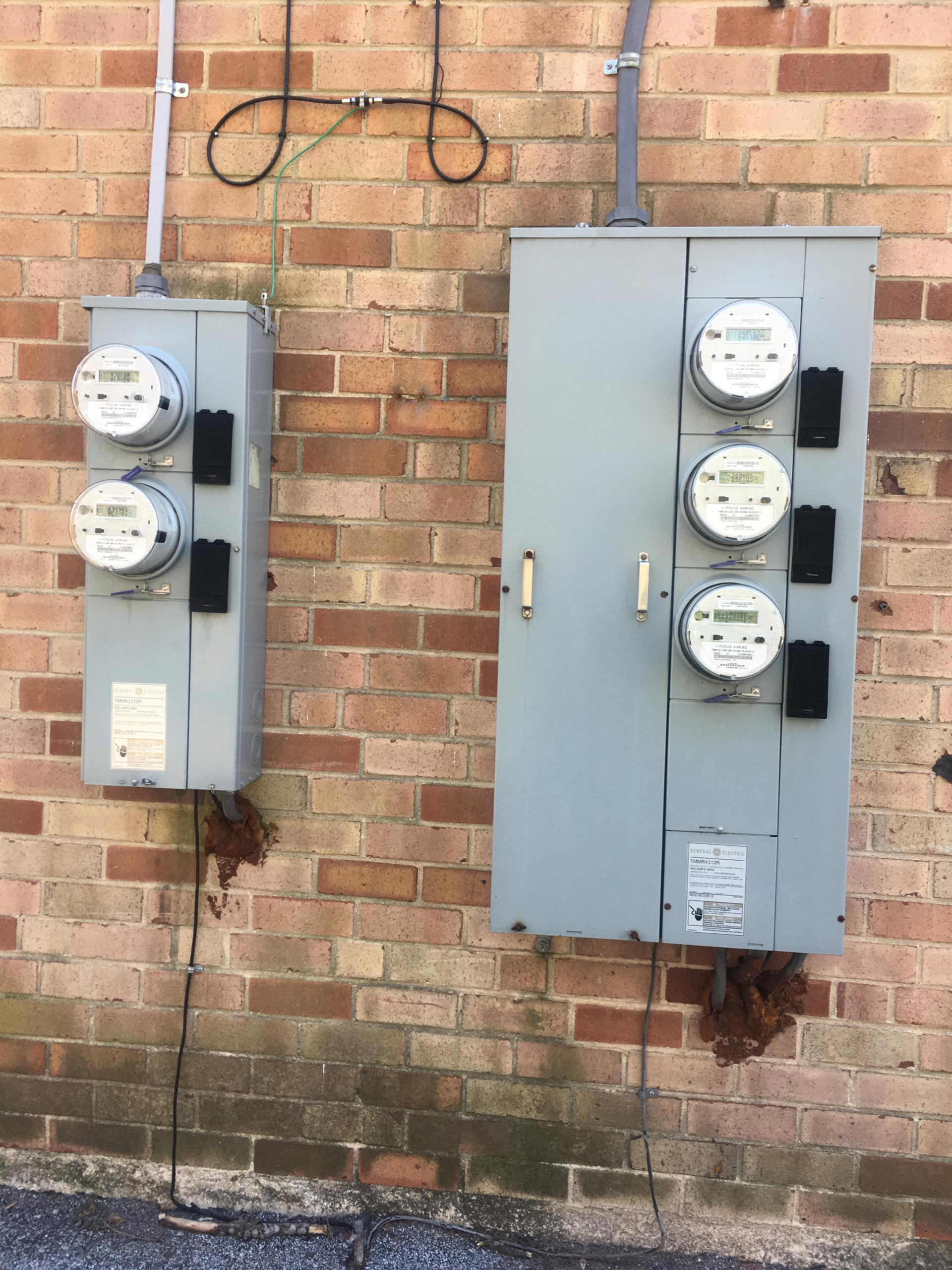 Ardmore Court exterior meter wall
